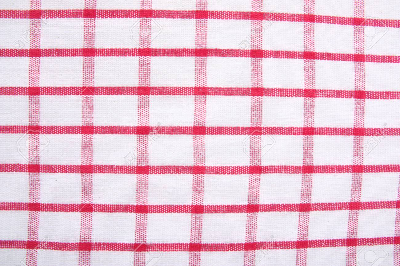Red checkered picnic  tablecloth as background Stock Photo - 7905423