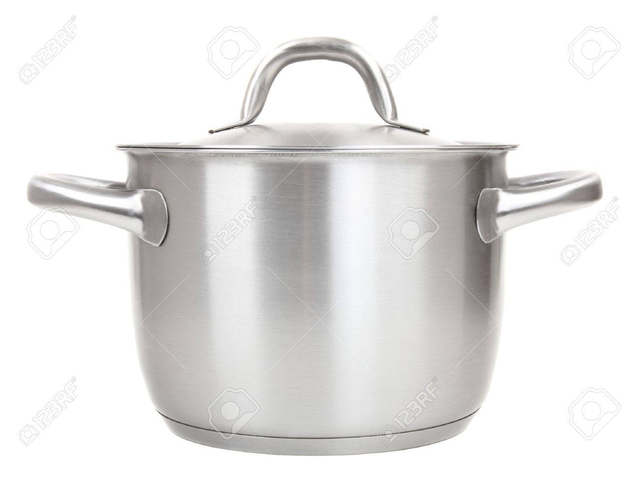 stainless pot isolated on white background Stock Photo - 8591303