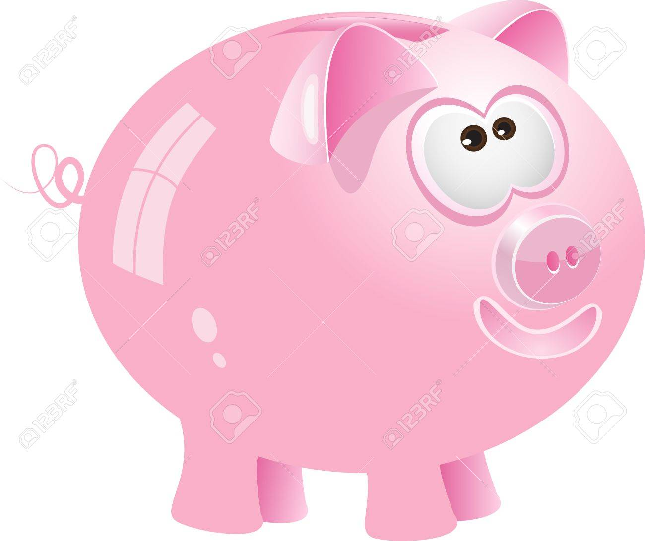 Pink piggy bank, vector Stock Vector - 10886693