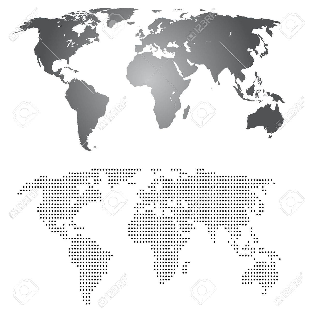World maps grey gradient and made from dotts royalty free cliparts vector world maps grey gradient and made from dotts gumiabroncs Gallery