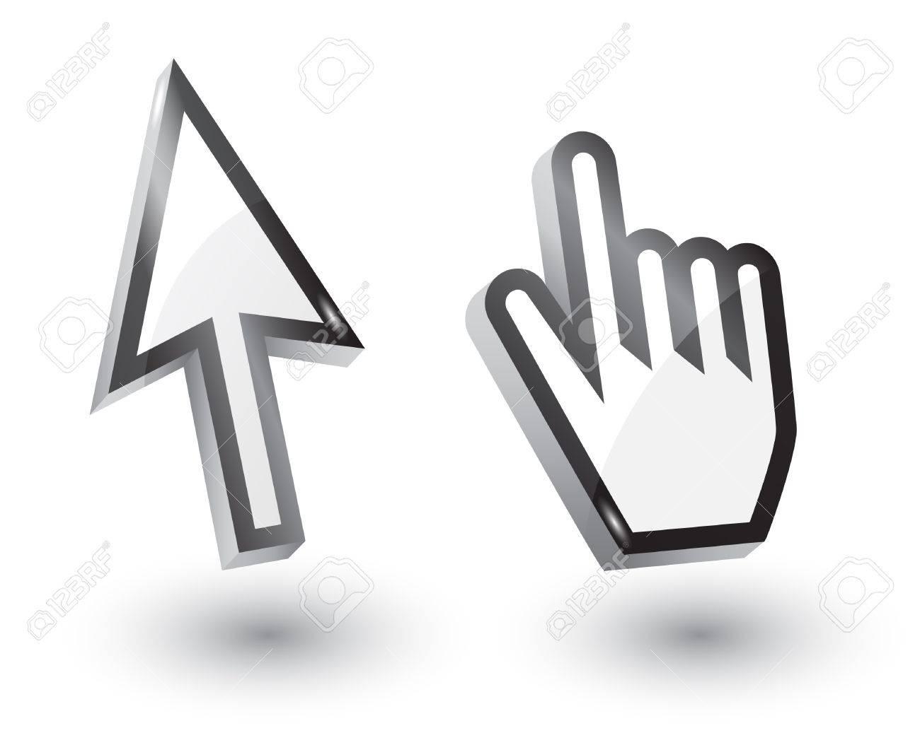 Open Hand Cursor cursor Vector mouse arrow and