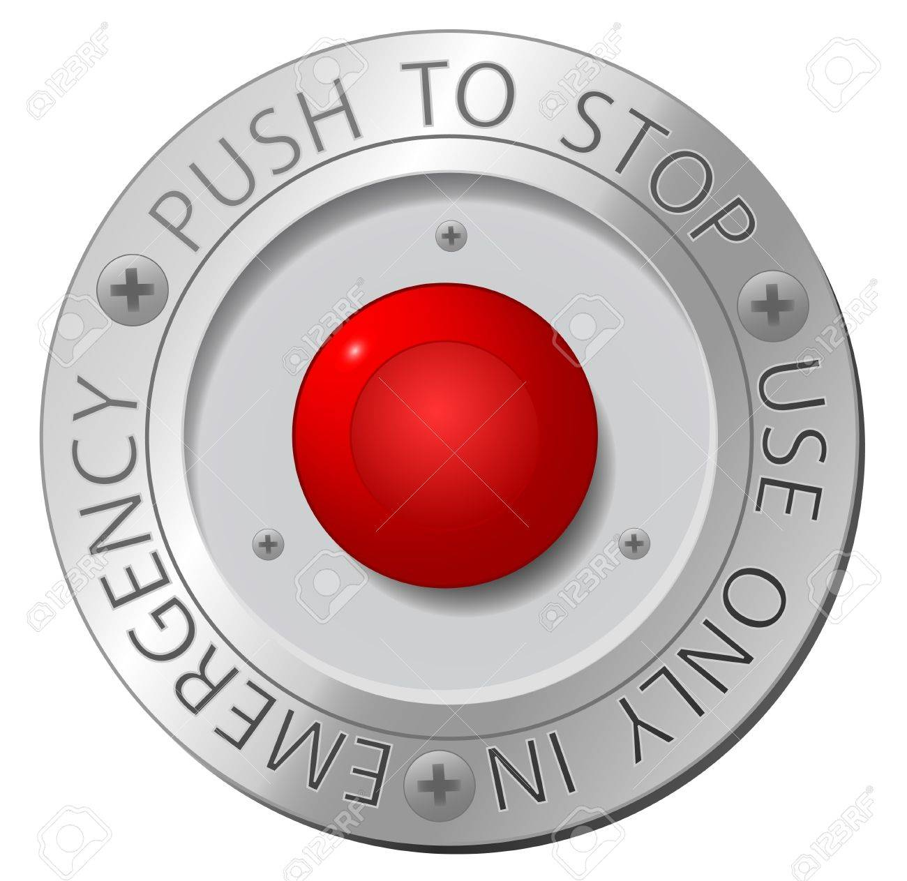 Emergency stop icon clipart emergency off - Emergency Button Red Stop Button