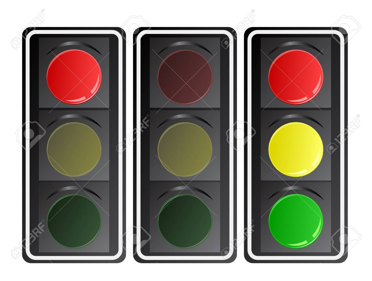 Traffic lights, vector gradient. Stock Vector - 18676173
