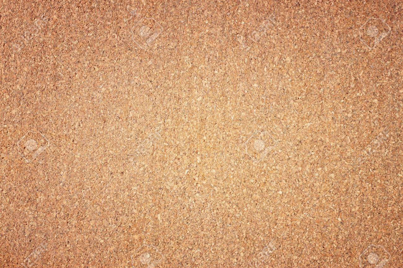 Empty Cork Board Background With Warm Tone And Subtle Vignette
