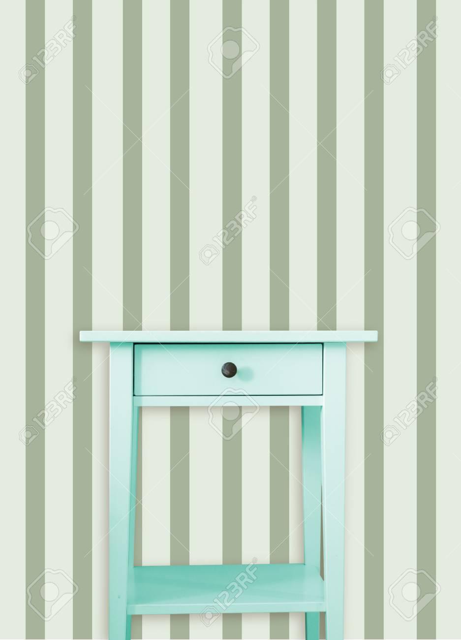 Weinlese Mint Holzerne Brust Schublade In Der Nahe Von Vintage