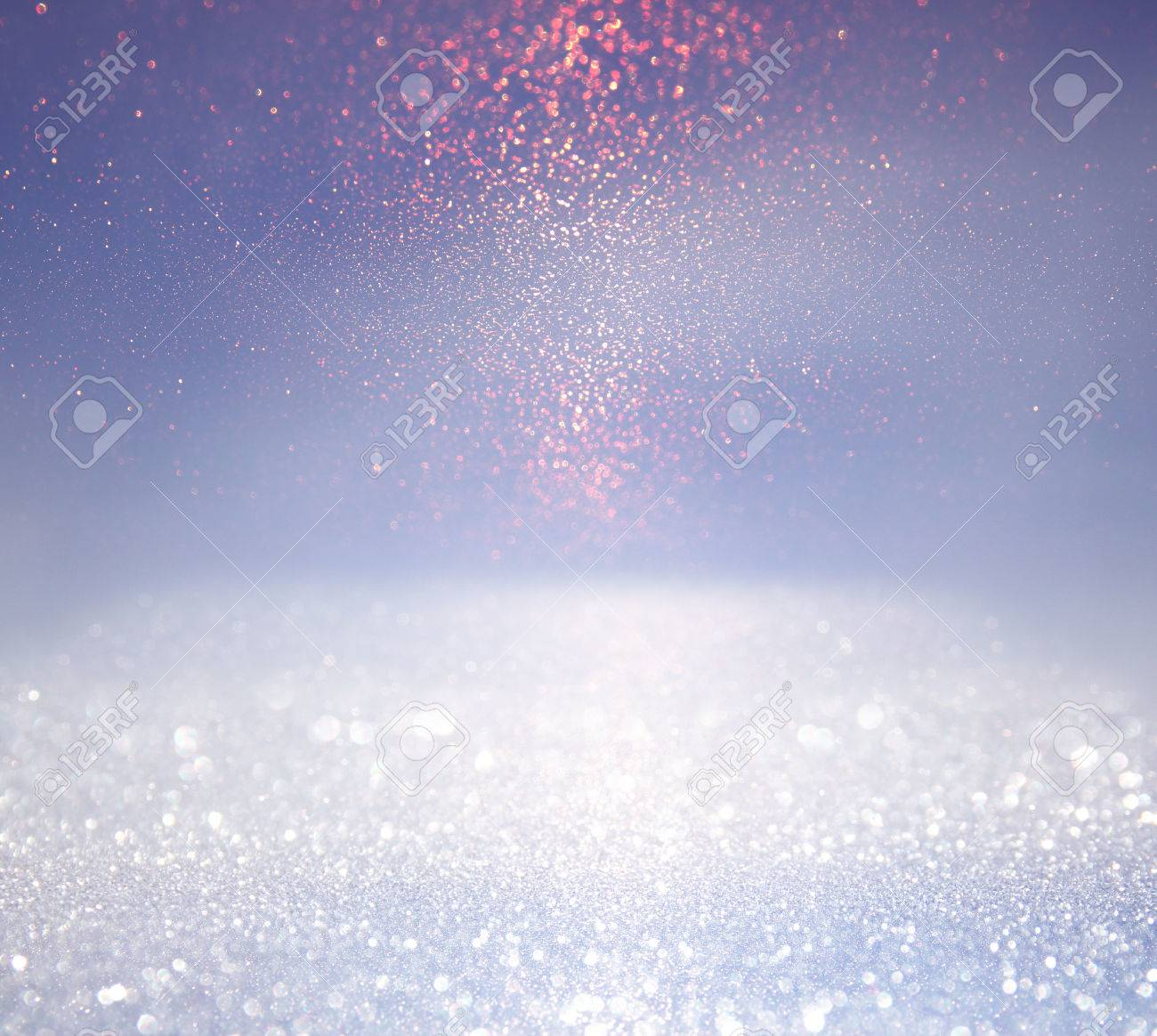 glitter vintage lights background. silver, blue and white. defocused. Stock Photo - 53664095