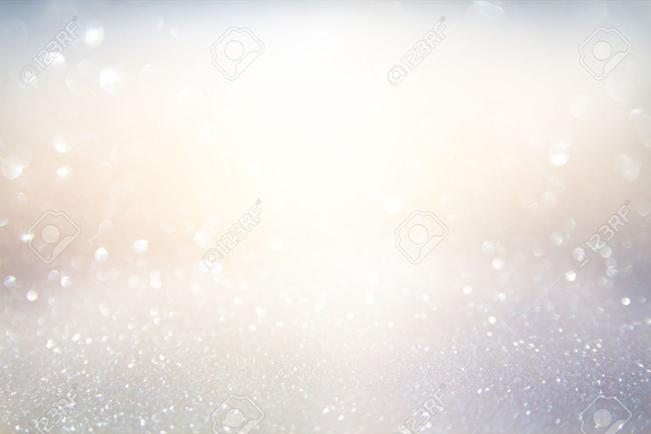 glitter vintage lights background. gold, silver, blue and white. de-focused. Stock Photo - 58717497
