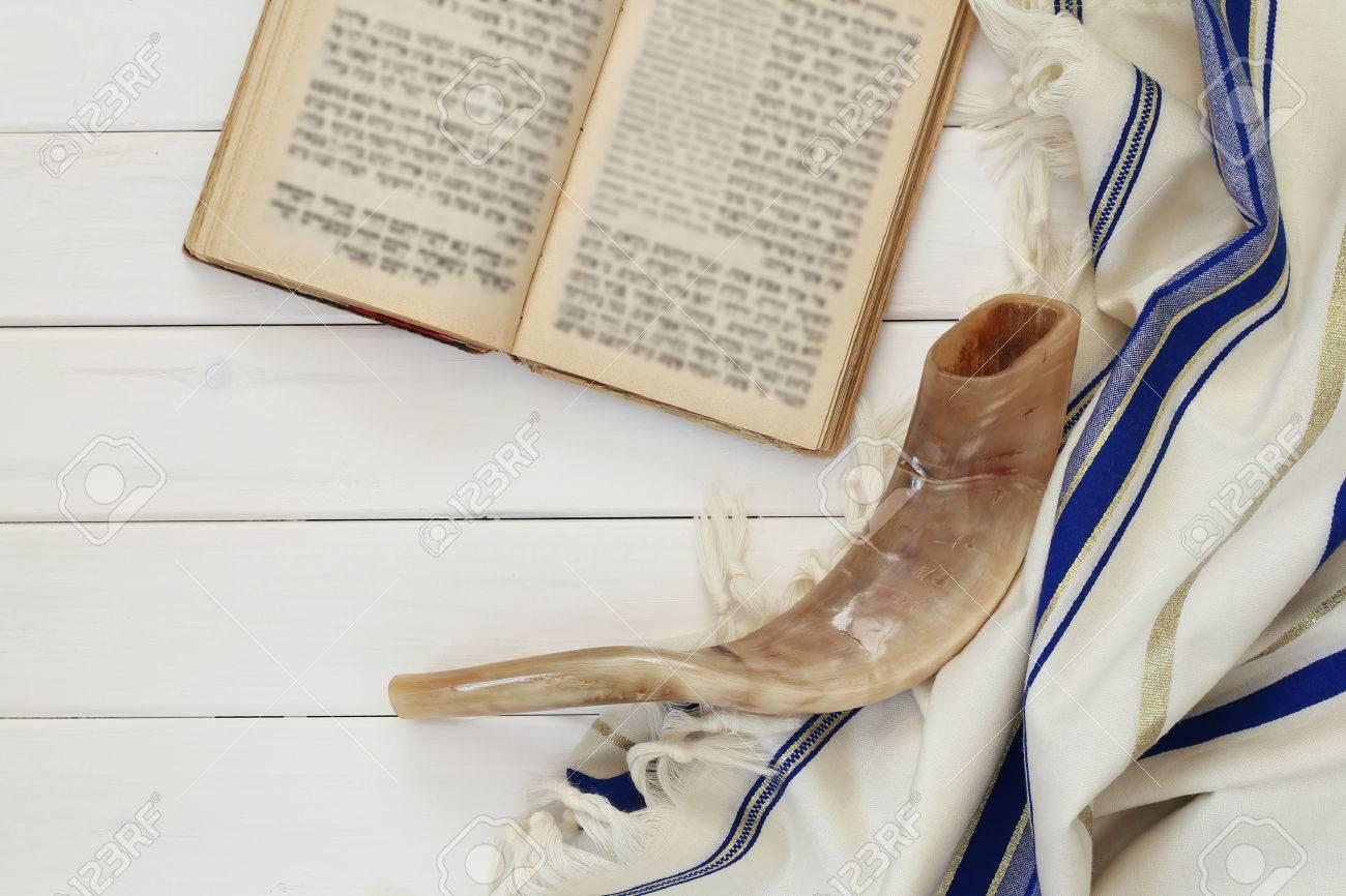 Prayer Shawl - Tallit, jewish religious symbol. - 59725951