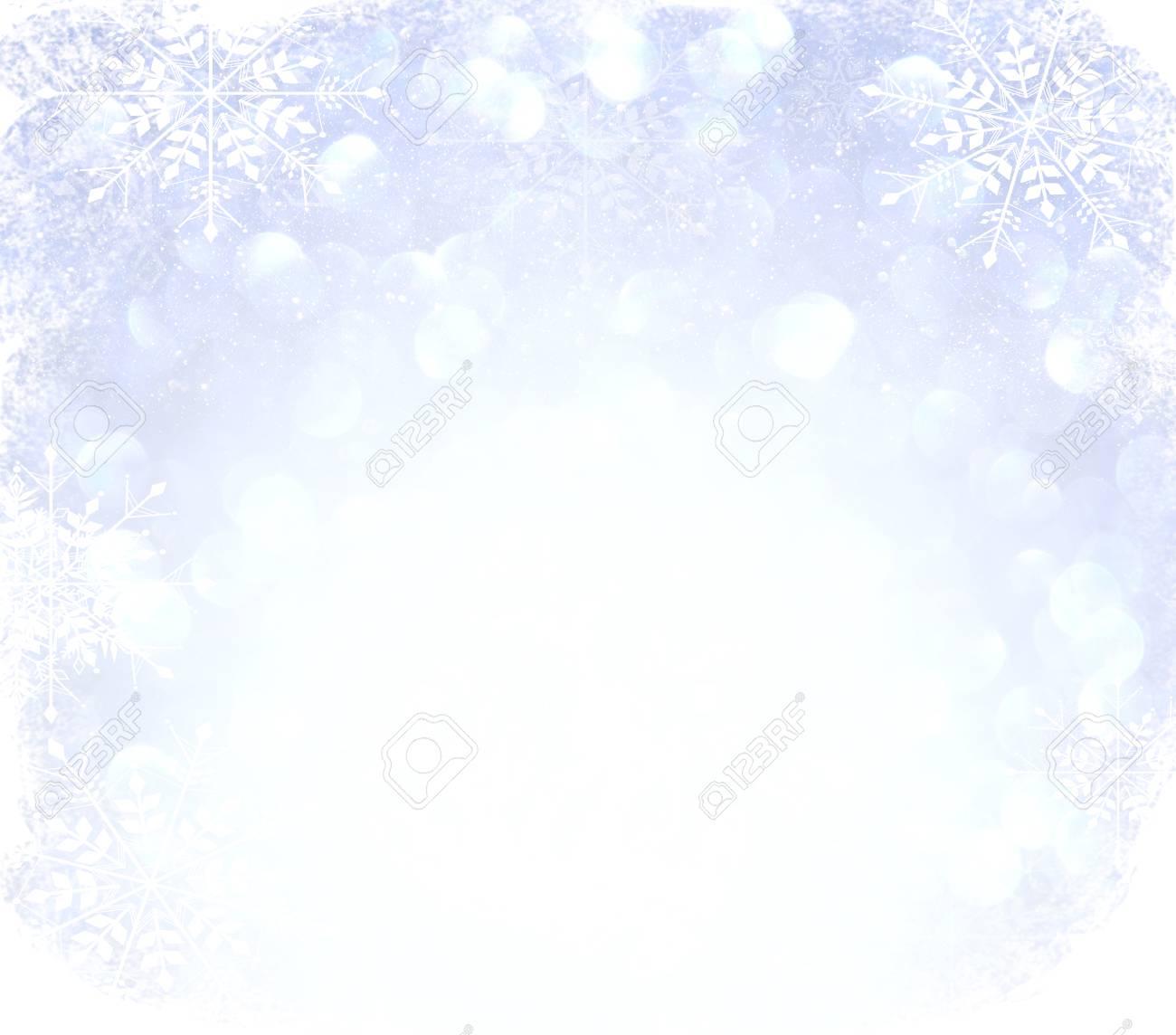 Immagini Stock Sfondo Di Luci Vintage Glitter Argento Azzurro E