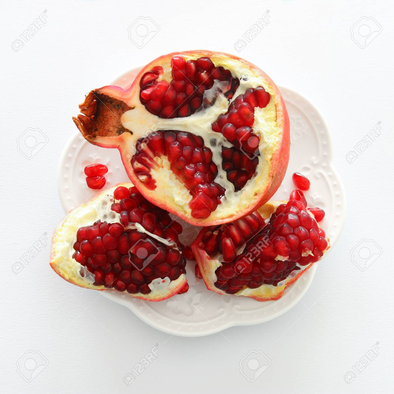 Rosh Hashanah Jewish New Year Holiday Concept Pomegranate Stock