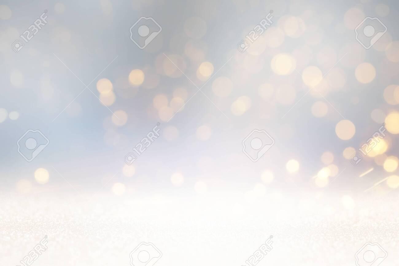 Glitter silver and gild lights background. De-focused - 122161902