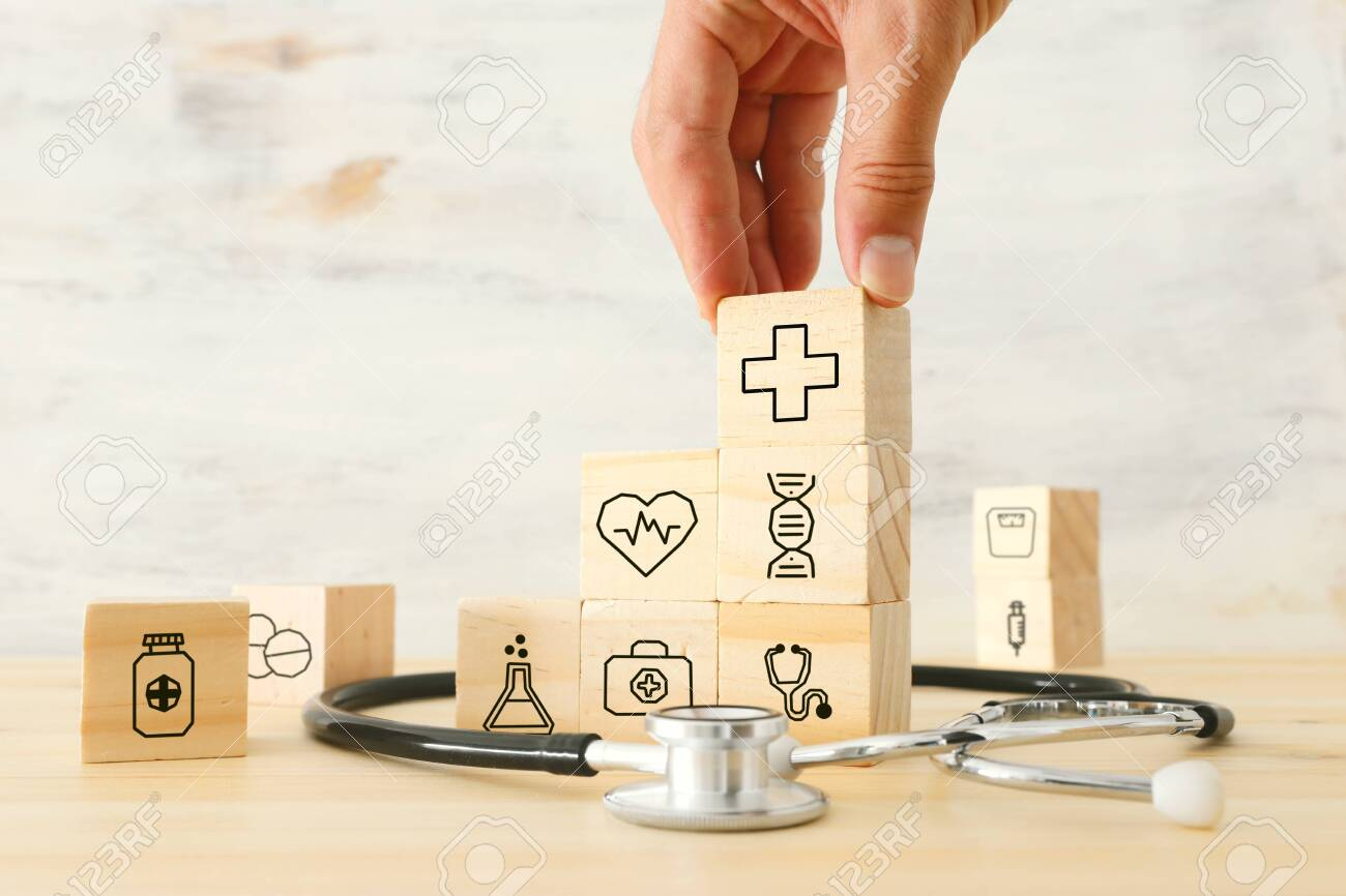 healfcare/medical and insurance concept of medicine service goal - 129346321