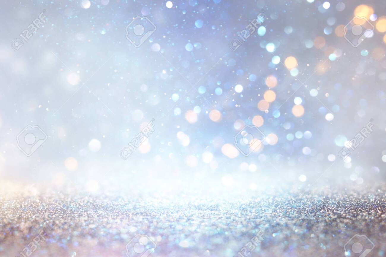 abstract glitter silver, gold , blue lights background. de-focused - 131801446
