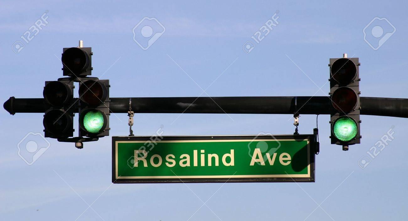 Street Traffic Traffic Light And Street Sign