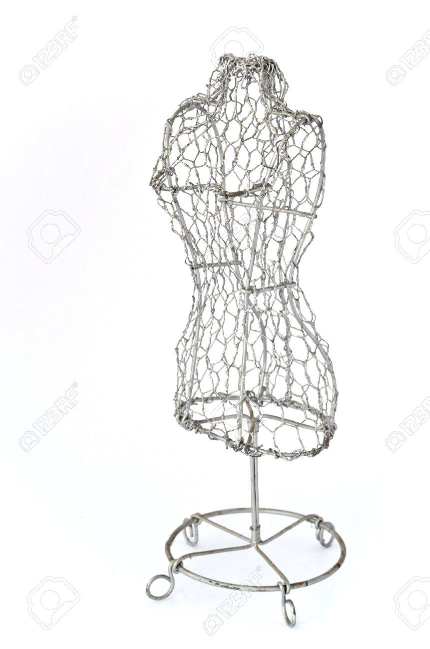 Mannequin Made Of Wire On White Background Stock Photo, Picture And ...