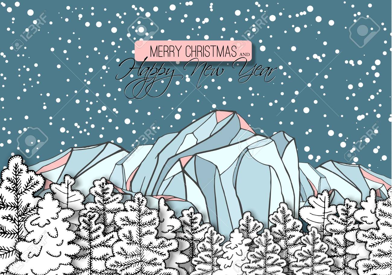 Greetings Card Biege Snowy Mount Everest Mountaineering  #15689