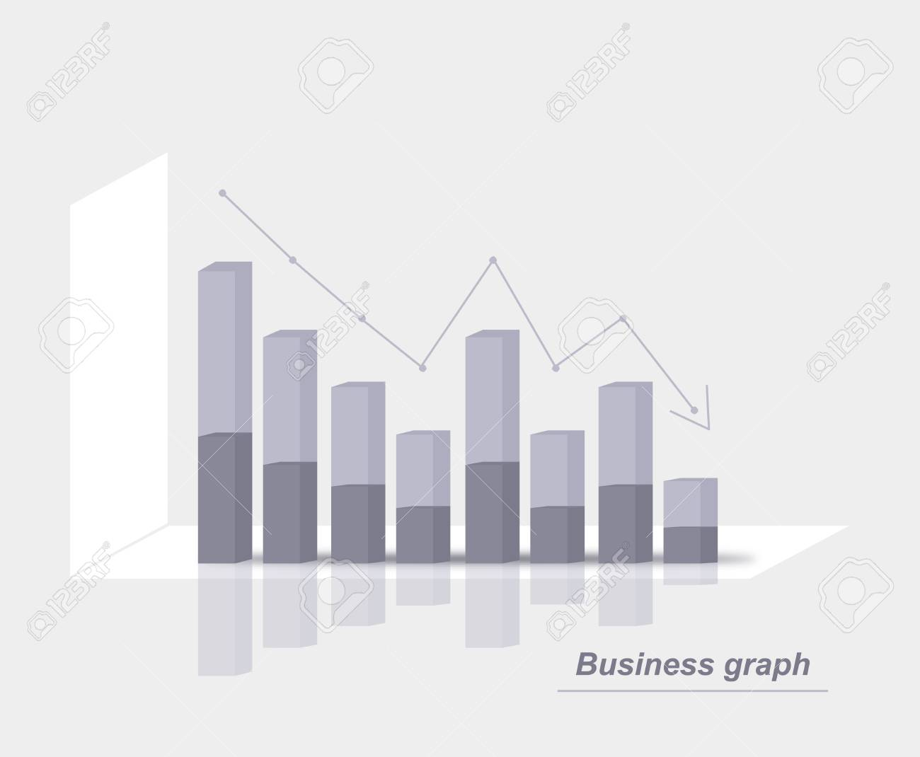 Grey business graph Stock Vector - 21448765