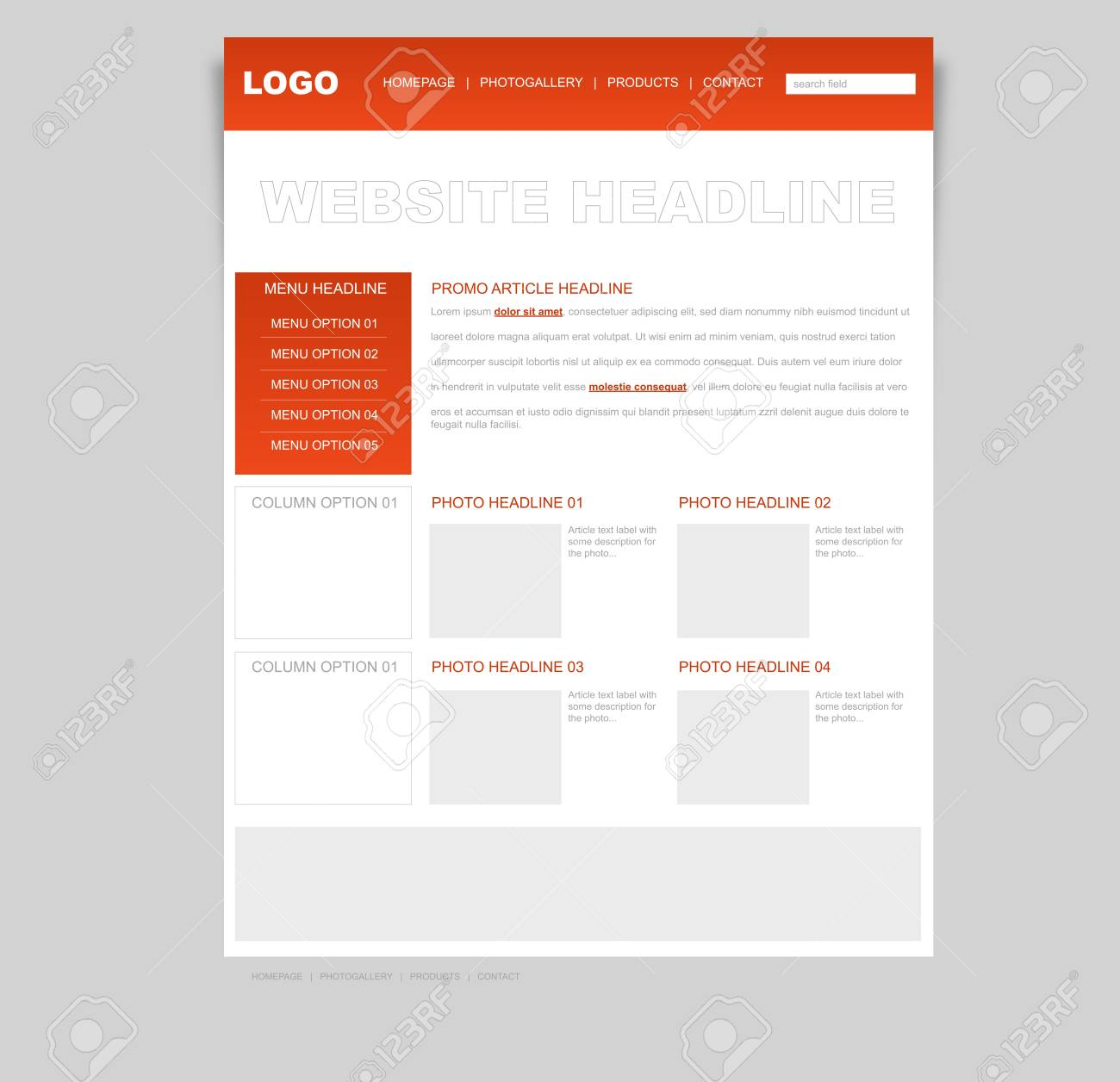Website business layout Stock Vector - 23068443