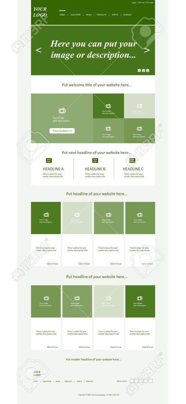 Plantilla De Diseño Web Sensible Para La Organización Empresarial ...