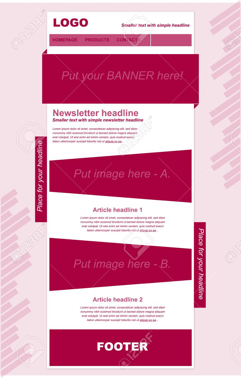responsive newsletter template for business or non profit