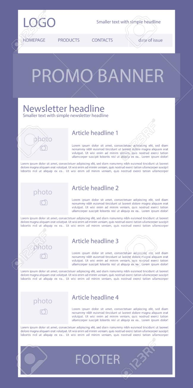 newsletter template for business or non profit organization royalty