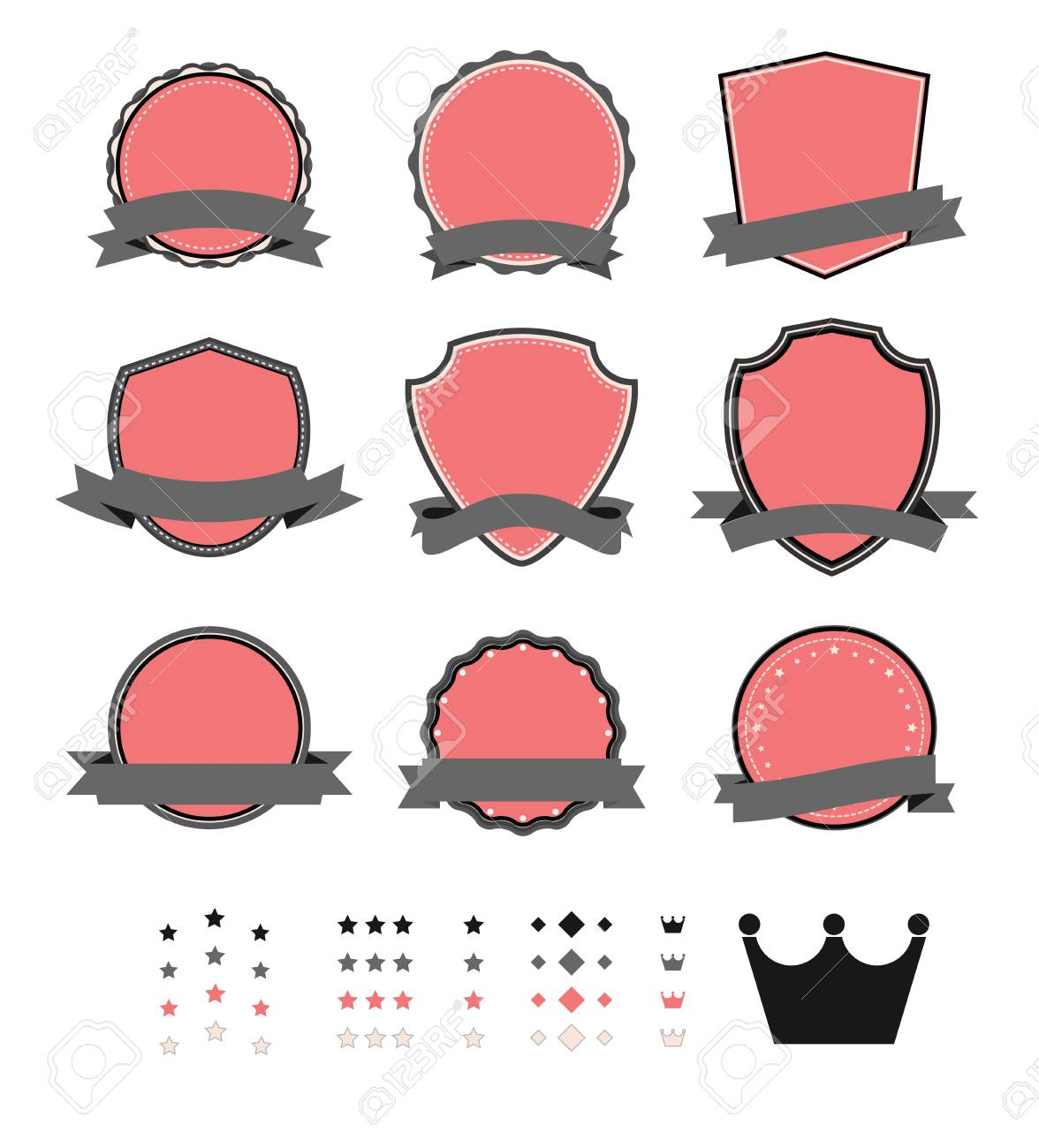 vintage blank label template royalty free cliparts, vectors, and
