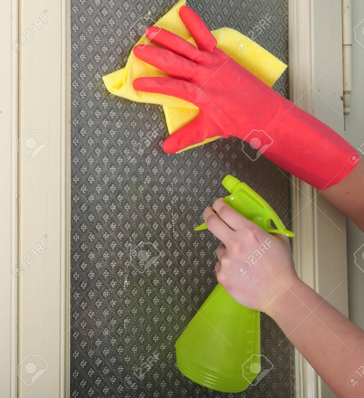 household chores and windows cleaning Stock Photo - 10811399