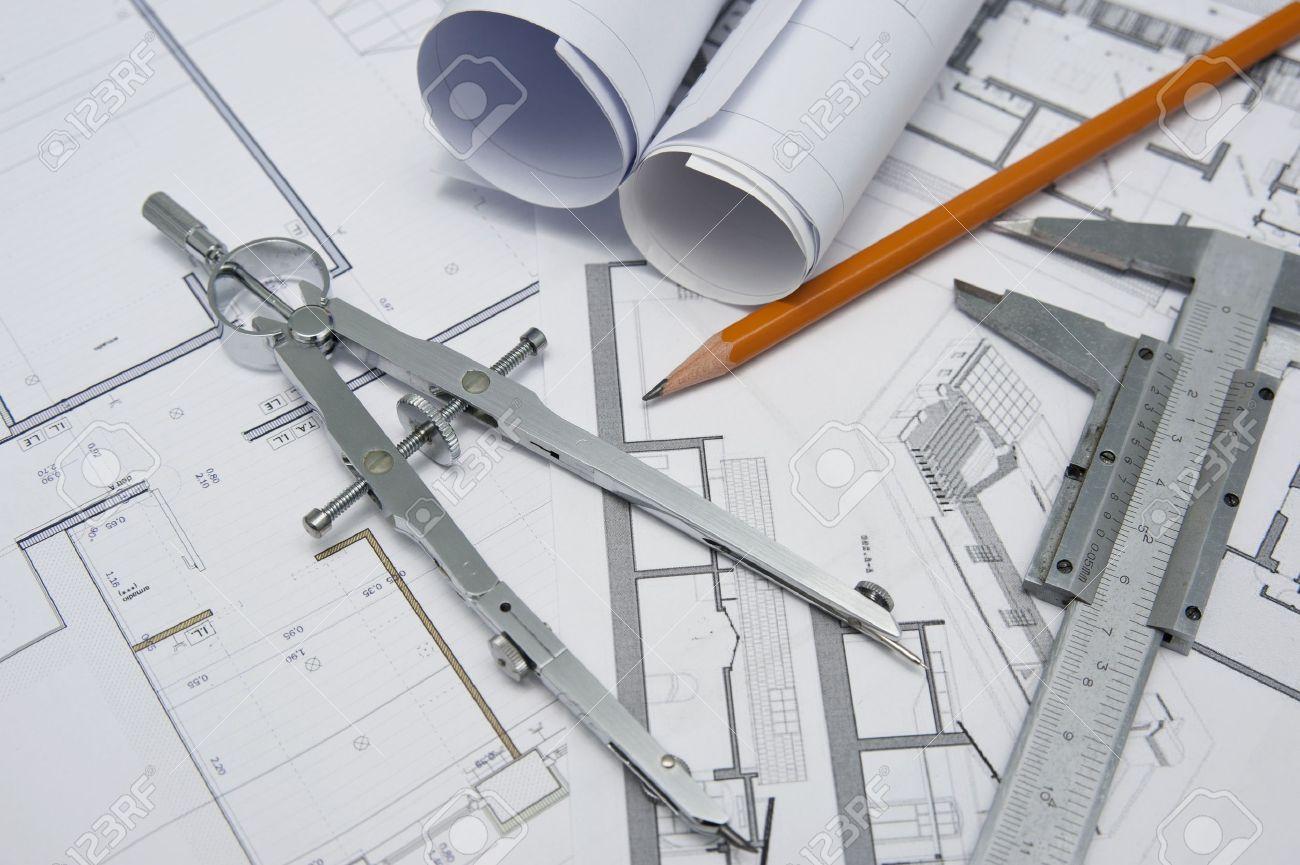 Stock Photo Architect Project Design Tools