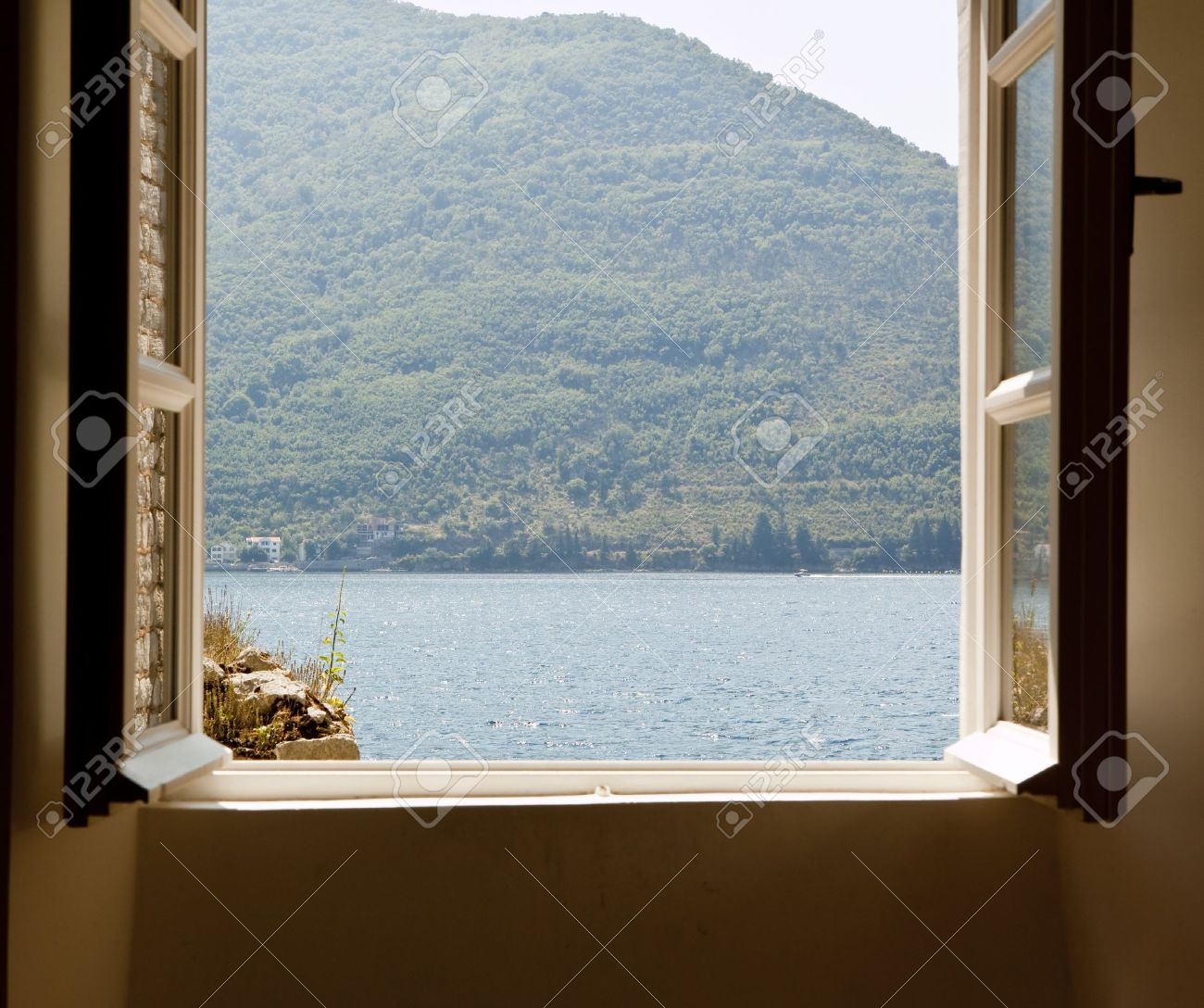 window wuth sea view Stock Photo - 10875798