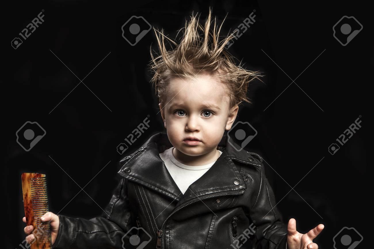 Chaqueta Cuero Retrato De Niño Fotos En Retratos Adorable IqxPRxTw
