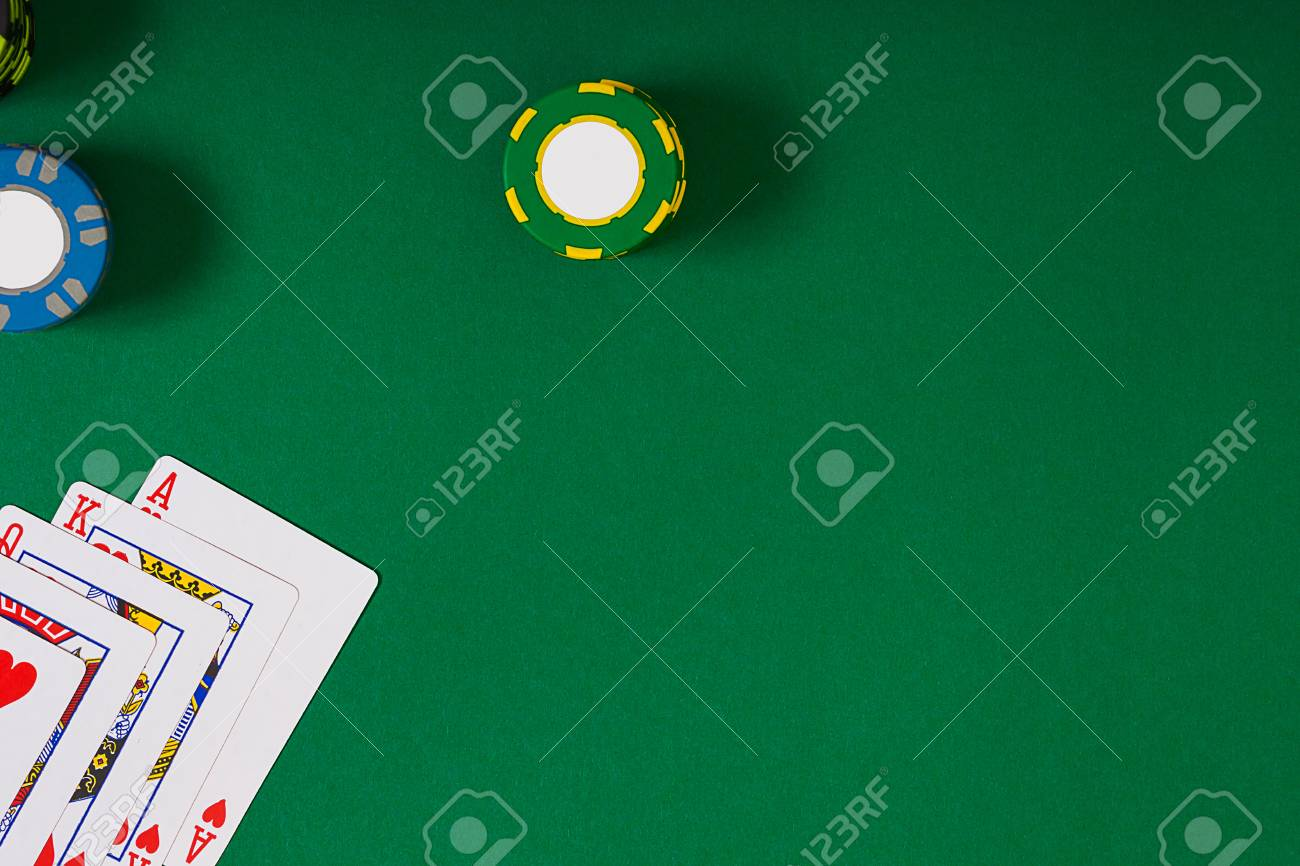 banner template layout mockup for online casino green table
