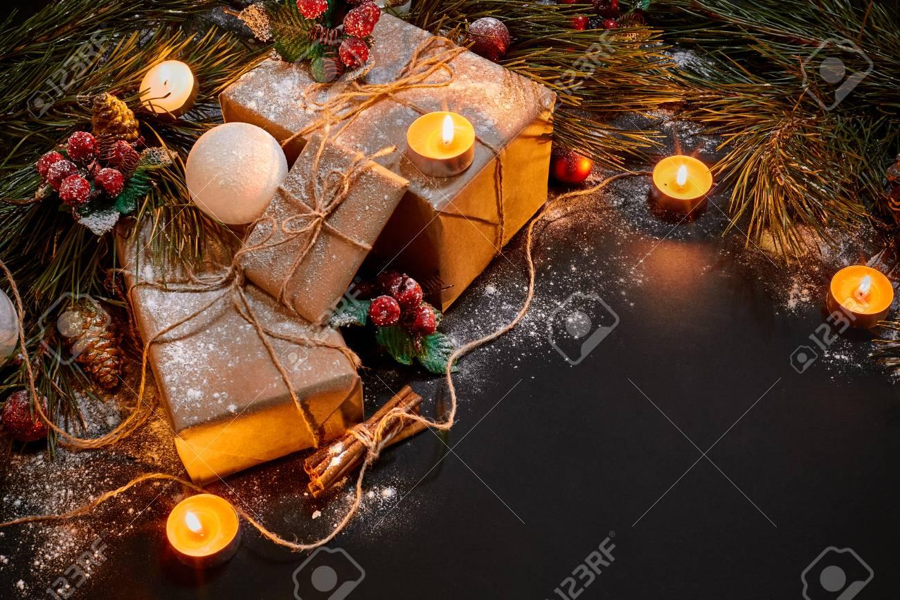 Christmas Gifts, Christmas Tree, Candles, Colored Decor, Stars ...