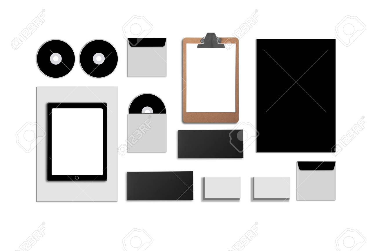 Blank Corporate ID  Set isolated on white  Consist of business