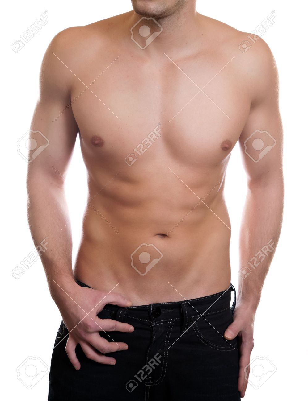 Man With A Toned Muscular Body Stock Photo, Picture And Royalty Free ...