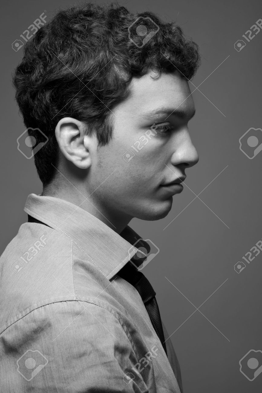 Black and white portrait of an young man Stock Photo - 14882731