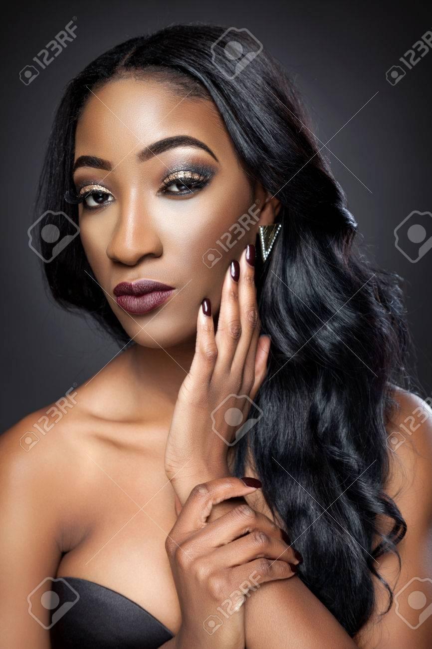 photo de belle femme noir