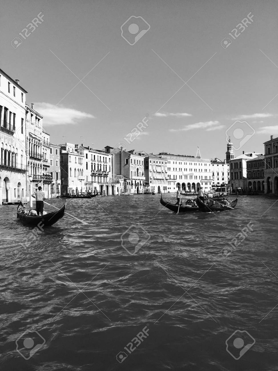 Black And White Postcard From >> Black And White Postcard From Venice Venice Italy Royalty Free