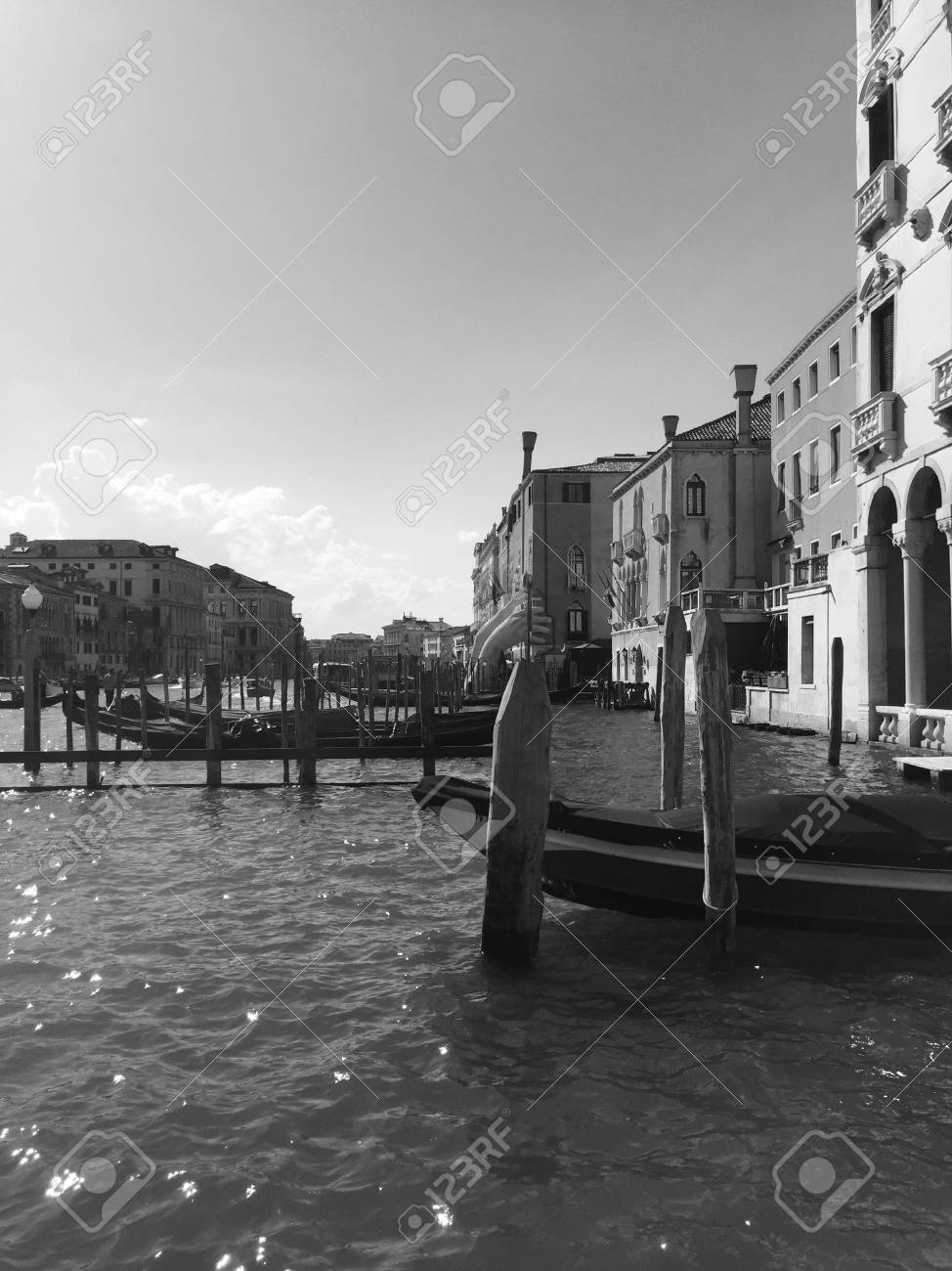 Black And White Postcard From >> Black And White Postcard From Venice Venice Italy Stock Photo