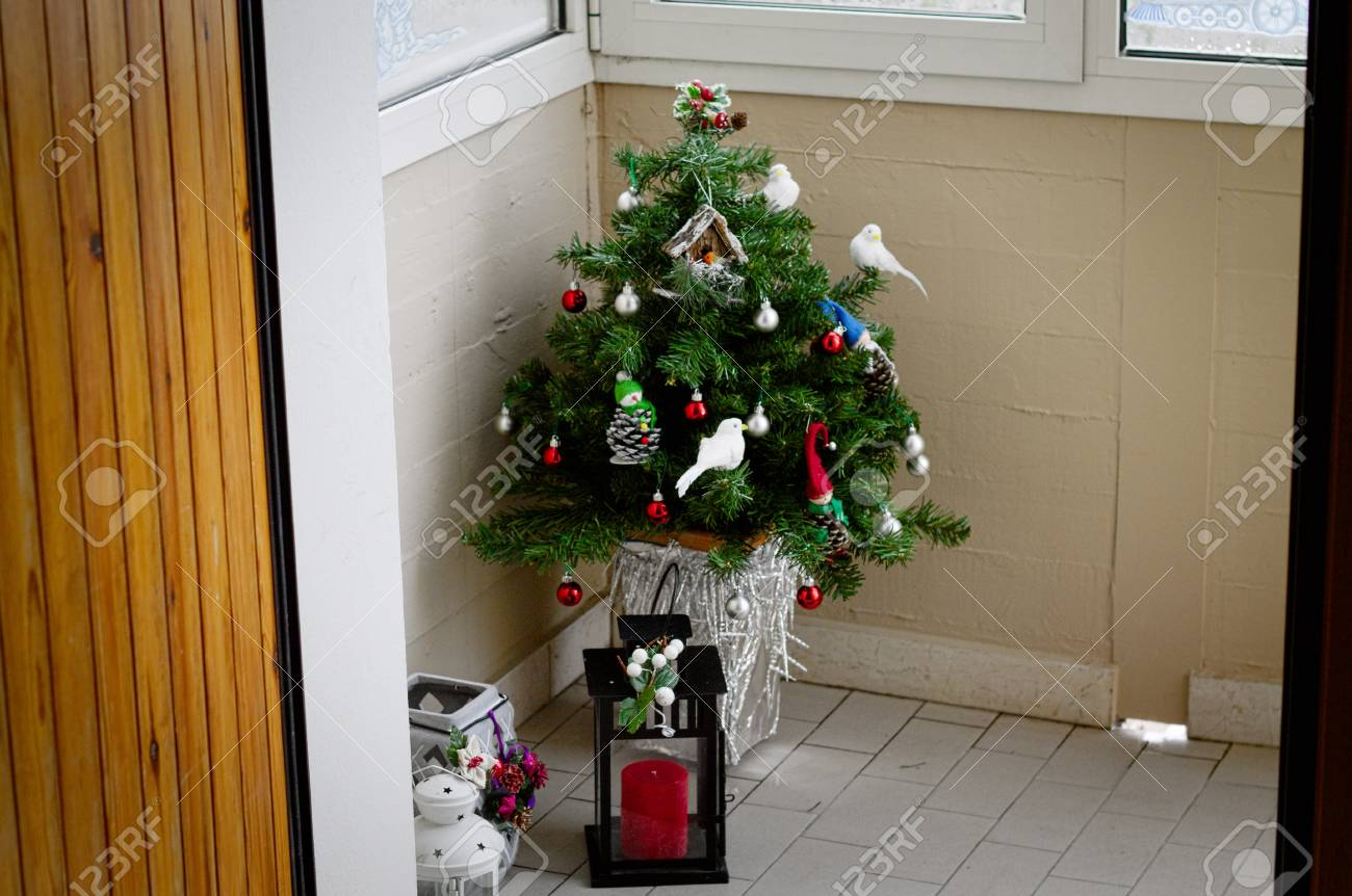 Little Christmas Tree In The Corner With Lamps Pesaro Italy