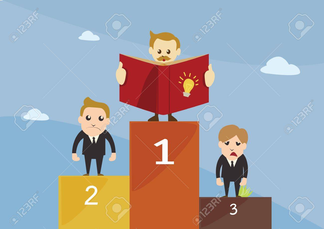 Competition,Winner stand on podium Stock Vector - 18985099