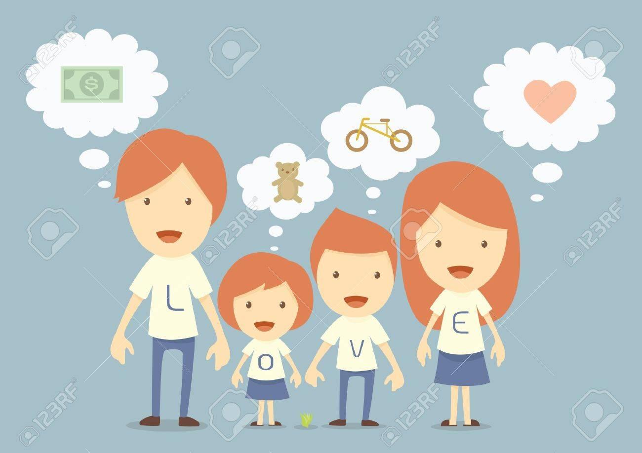 hapy family, dream Stock Vector - 19291386