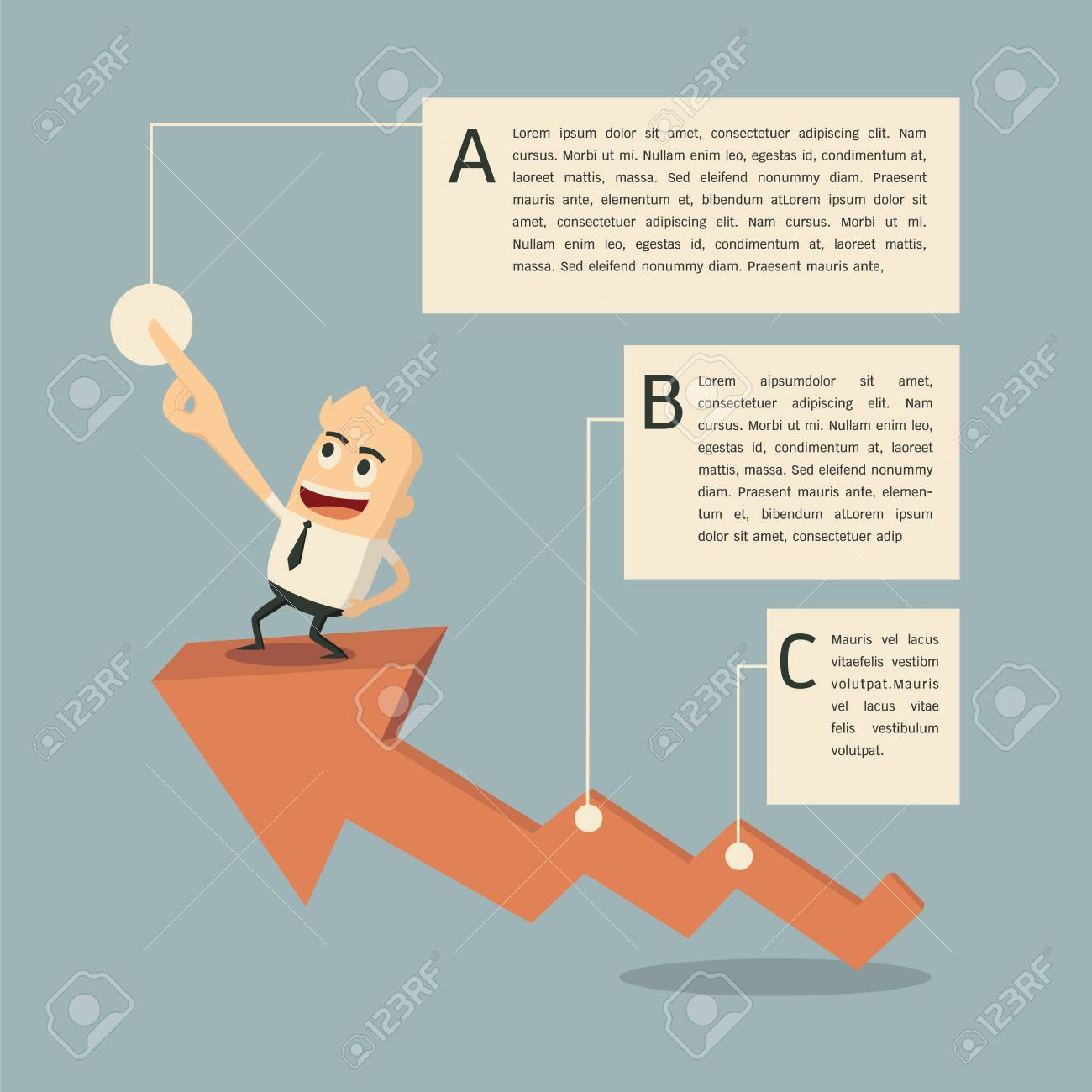 Success graph infographic Stock Vector - 19752045