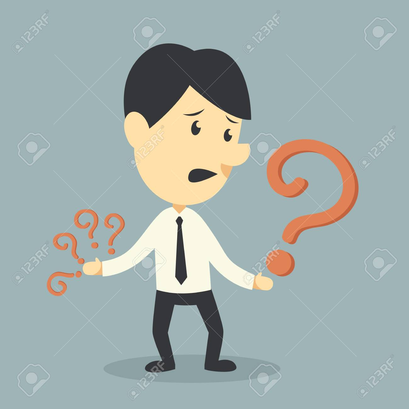 Businessman with Question mark symbol Stock Vector - 22005479