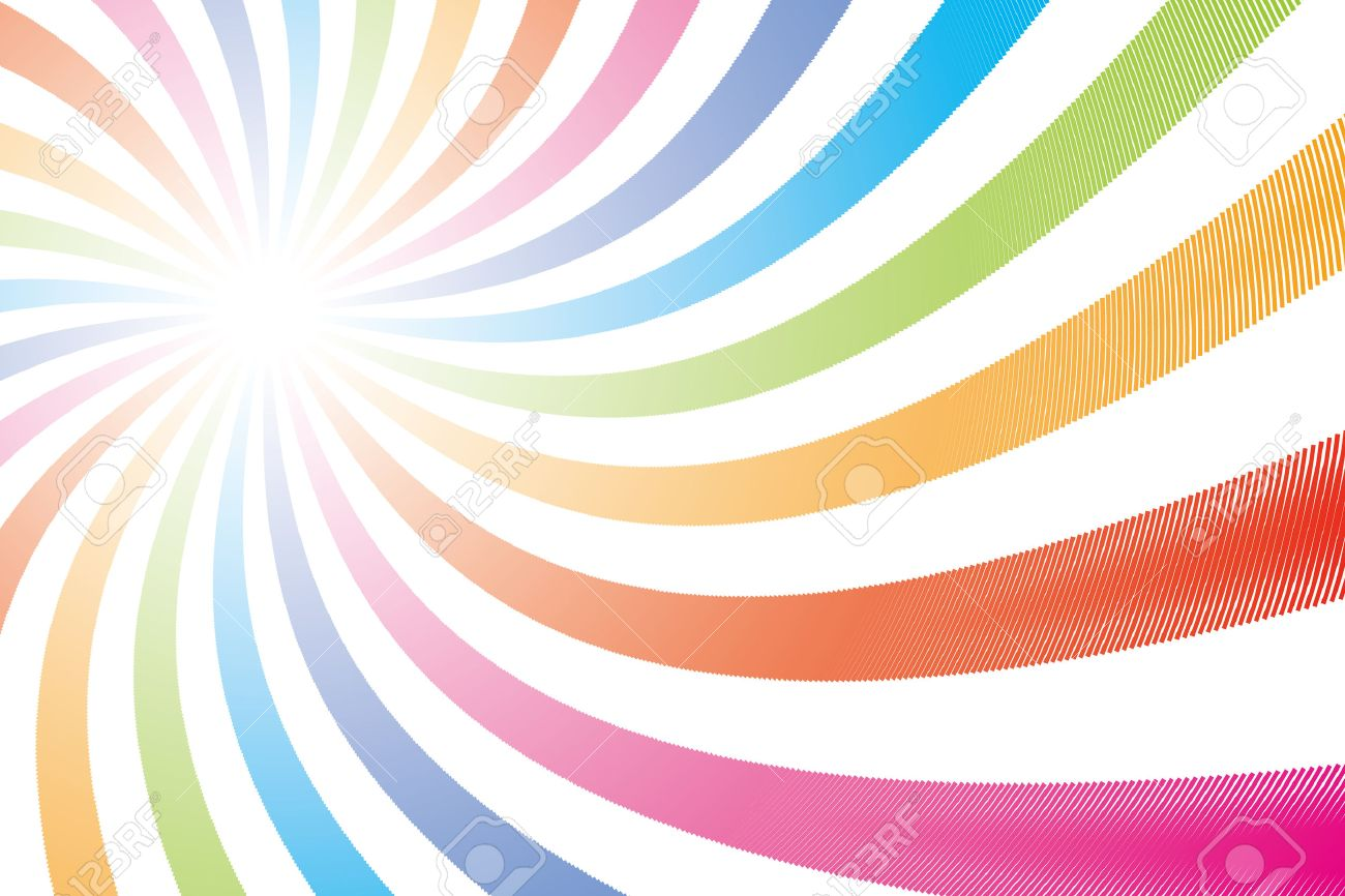 Background Wallpaper Rainbow Color Radial Seven Colors Sales Promotion