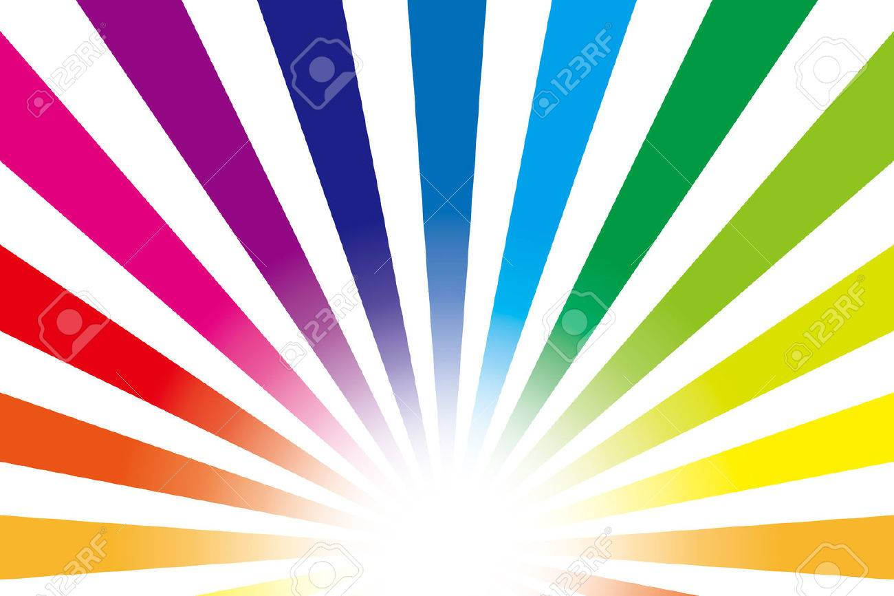 Background material wallpaper Rainbow, radial - 29430960