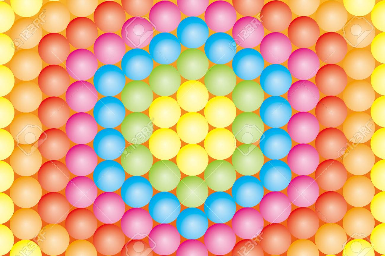 Background Material Wallpaper Color Ball Which Has Been Paved ...
