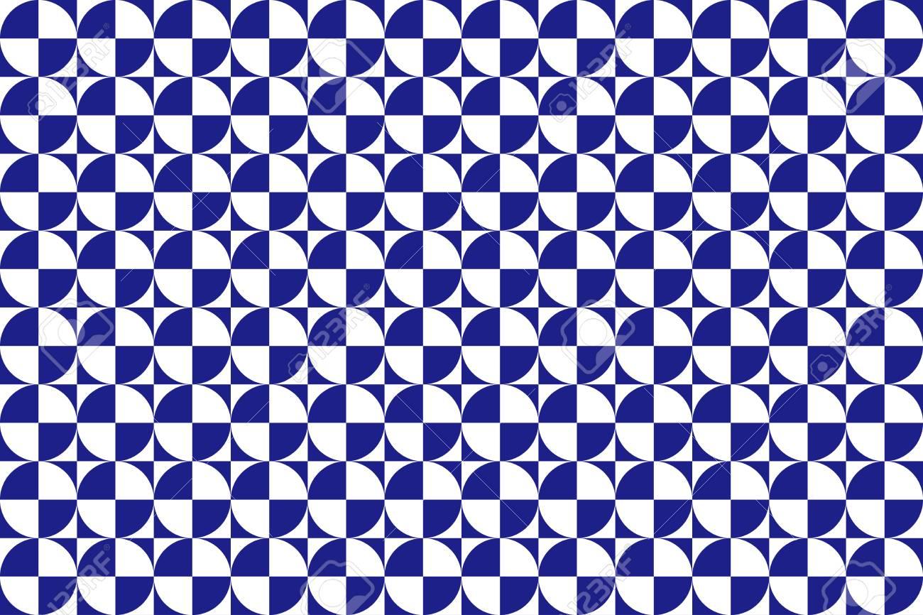 正方形と円の背景素材壁紙幾何学模様モノトーン パターンのイラスト