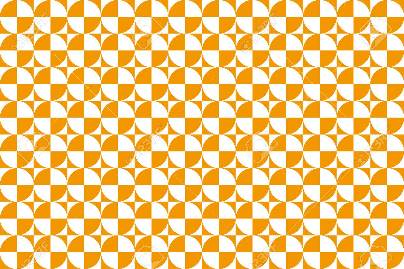 正方形と円の背景素材壁紙幾何学模様の単調なパターンのイラスト素材