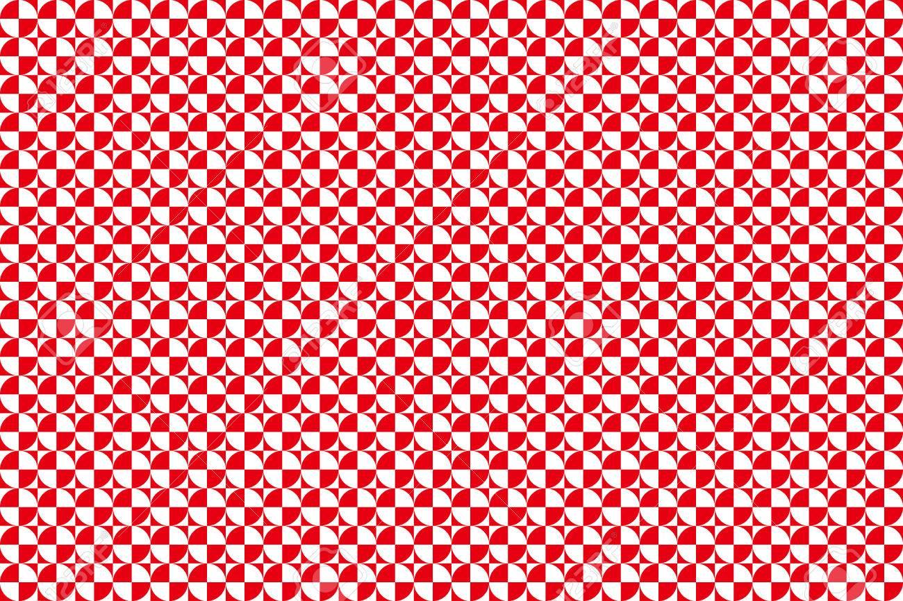 正方形と円の背景素材壁紙幾何学模様モノトーン パターンのイラスト素材 ベクタ Image