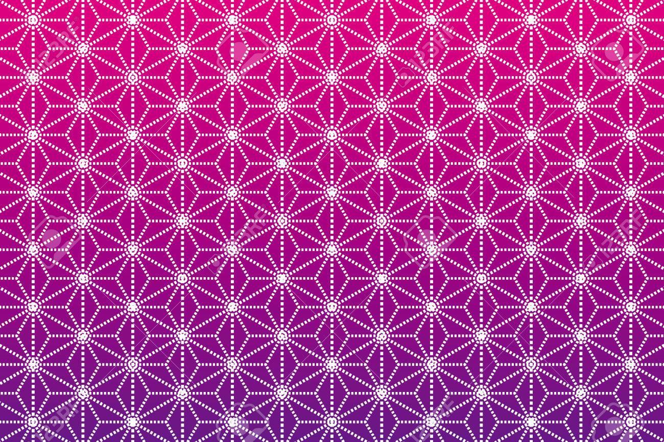 背景素材壁紙 パターン和風麻の葉のイラスト素材ベクタ Image